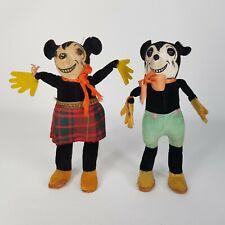 Original True Vintage c1930s Deans Ragbook Disney Mickey & Minnie Mouse Dolls