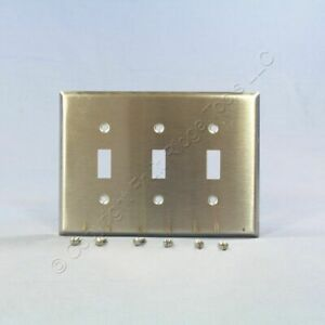 Eagle NON-MAG Mid-Size Stainless Steel 3G Toggle Switch Wallplate Cover 93973