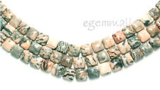 "15.5"" Pink Zebra Jasper Square Beads 10x10mm #69043"