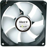 Gélido Solutions Silent 8 80mm Ventilador para Caja 1600 RPM,20.7 PCM,18.0dBA