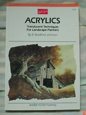 ACRYLICS by R Bradford Johnson ~ Softcover  Very Good used condition