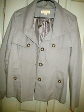 Avocado 10 Light Green / Grey Short Trench Style Lined Casual Jacket Coat Winter