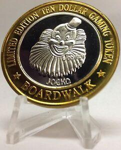.999 FINE SILVER STRIKE FROM BOARDWALK HOTEL & CASINO LAS VEGAS NV JOCKO 1996