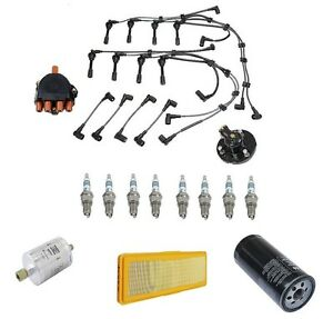 For Porsche 928 87-91 V8 5.0L Tune Up Kit Wire Set+Plugs+Rotor+Cap+Filters