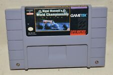 Super Nintendo SNES Nigel Mansalls World Championship Racing Game Cart