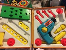 Vintage Fisher Price 1977 Tool Kit Drill Original Box Toy Collect SKU 012-029