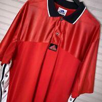 Adidas Snap Button Shooting Shirt Basketball Warm Up Jersey Vintage Men's XL
