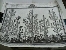 ARBRE GENEALOGIQUE DES MONASTERES CISTERCIENS EN FRANCE 1776 FAC-SIMILE 50 x 60