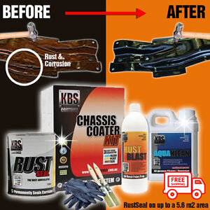 KBS Chassis Coater Kit Gloss Black Repair Restoration   up to 5.6m2 - Free Post