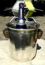 Seau à champagne métal argenté & palissandre - Art Déco - orfèvre Saglier Frères