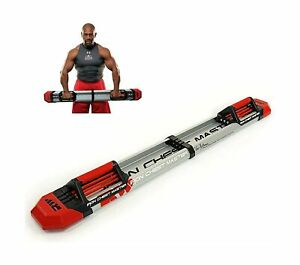 Iron Chest Master Push Up Machine Chest Workout Built In Resistance Bands New