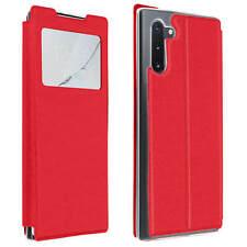 Funda Samsung Galaxy Note 10 Cartera con Ventana F. Soporte - Rojo