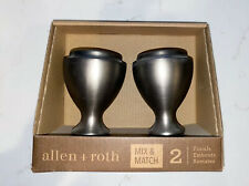 allen + roth Mix & Match Brushed Pewter Aluminum  Curtain Rod Finials Set - NIB
