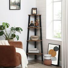 Bookcase, Corner Shelf Rack, 4 Tier Organiser Unit CD Display Cabinet LLS34X