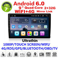 "Android 6.0 9"" 2Din Touch Screen Quad-Core 2+32G Car Stereo Radio GPS DVD Player"