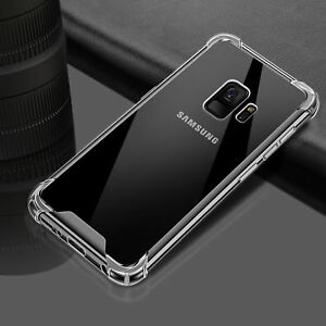 Shockproof Hybrid TPU Clear Hard Case Cover For Samsung Galaxy S9 S8 Plus Note 8
