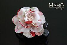 Charming JAPANESE KANZASHI style HAIR CLAW aligator CLIP KIMONO cute cherry rose