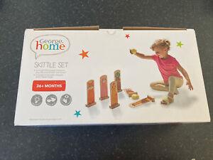 Brand New George Home Children's Wooden Skittle Set: Age 36+ months