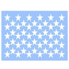 """Swirlypop Designs 50 Stars stencil 9""""x12"""" independence day 4th of july summer"""