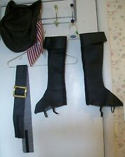 Costume;Halloween;DISNEY Pirates of Caribbean Hat, Boot Covers,Belt;Youth Sz M-L