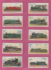 RAILWAYS - WILLS N.Z. -  SCARCE  SET  OF  50  RAILWAY  ENGINES  CARDS  -  1925