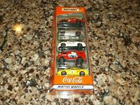 Mattel Wheels Matchbox Coca-Cola Coke 5 Pack Gift Set yellow white red gray 1998