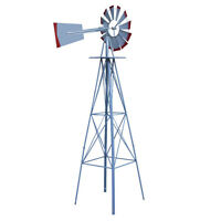 Windmill Ornamental Weather Vane Wind Tall Outdoor Garden Law 8 FT Mill Metal