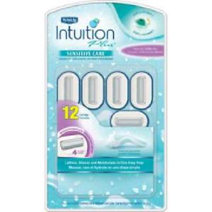 Schick Intuition Plus Sensitive Care With Aloe & Vitamin E, 12 Cartridges
