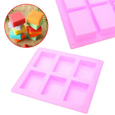6Cavities Rectangle Handmade Soap Cake Making Mold Craft DIY Supplies Home Tool