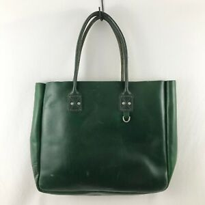 Billykirk Forest Green 235 Leather Tote Bag NWOT
