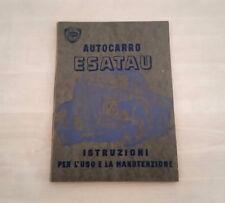 Autocarro Lancia Esatau Libretto Manuale Uso e Manutenzione 1949 ITA