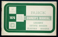 Owner's Manual * Betriebsanleitung 1976 Buick LeSabre  Electra  Riviera  (USA)
