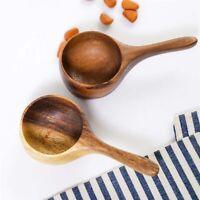 Mini Wooden Coffee Milk Powder measuring spoon Spice Powder Bean Kitchen Tool