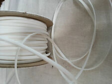 2M White Faux Leather Flat Cord Necklace String Thong Lace Craft Beads 3mm