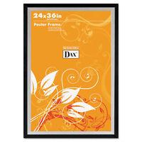 Dax Metro Series Poster Frame Plastic 24 x 36 Black/Silver 3404U1T
