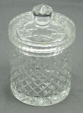 Clear Glass Studded Pineapple Pattern Cookie Jar with Lid - 5 x 5 inches