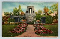 Catskill Mountains NY, St Mary's Shrine, Haines Falls, New York Linen Postcard