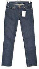 Mesdames Womens LEVIS straight leg demi curve INDIGO BLUE JEANS w26 l32 Size 8