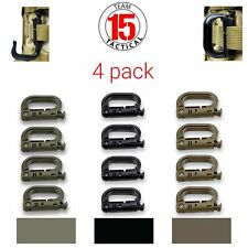 4 pack D-Ring Clip Molle Hook Grimloc Backpack Locking Buckle Carabiner Snap on