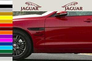 Jaguar car body tuning custom vinyl Sticker Decal 2 psc. 200 mm
