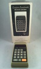 Texas Instruments Longines Symphonette Electronic Calculator in box with case.
