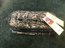 New Lug Travel DOUBLE DECKER  Make-up Cosmetic Toiletry Bag Blue Camo