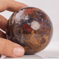 450g 68mm Natural Pietersite Quartz Crystal Sphere Healing Ball Chakra Stone