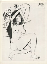 PABLO PICASSO - 05.01.54  woman erotic * HELIOGRAVURE from VERVE 1954 suite