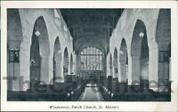WINDERMERE St Martin's Church Postcard nr Kendal CUMBRIA Anon