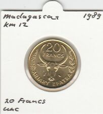 Madagascar 20 francs 1989 UNC - KM12 (mc148)