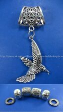 flying bird pendant slide tube scarf rings necklace scarf pendant