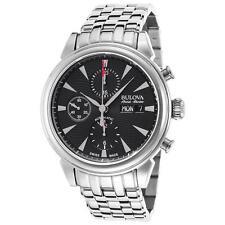 Bulova AccuSwiss 63C113 Gemini Men's Swiss Made Automatic Chronograph Watch NEW
