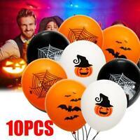 10Pcs Halloween Trick Treat Party Balloons Decoration Skull Spider
