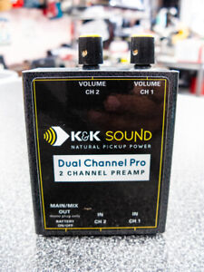 """K&K Sound Dual Channel Pro ST Stereo Guitar Preamp/EQ, Stereo In, Dual 1/4"""" Out"""